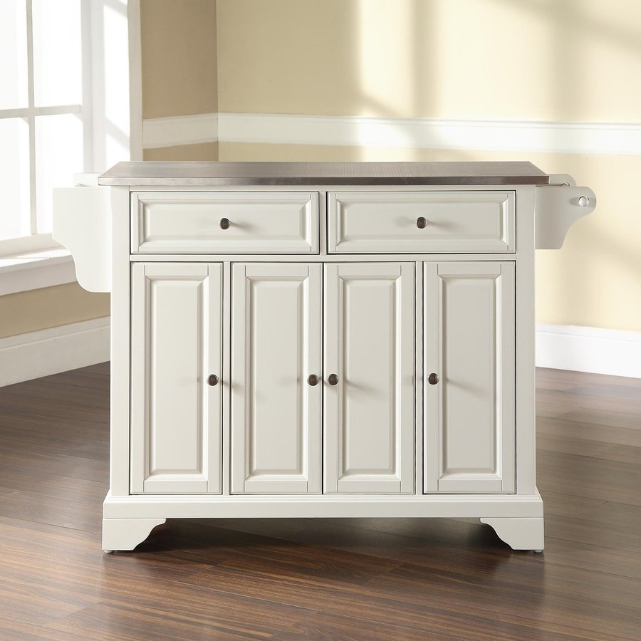Crosley Furniture 52-in L x 18-in W x 36-in H White Kitchen Island
