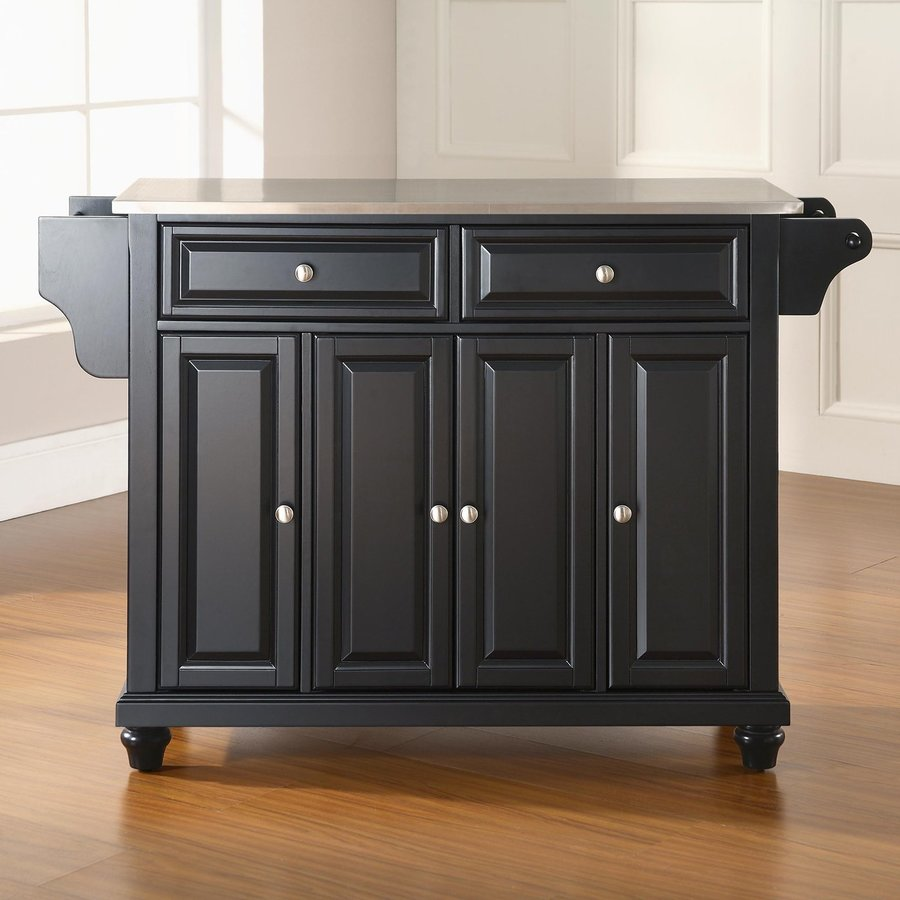 Shop Crosley Furniture 52 In L X 18 In W X 36 In H Black Kitchen Island At
