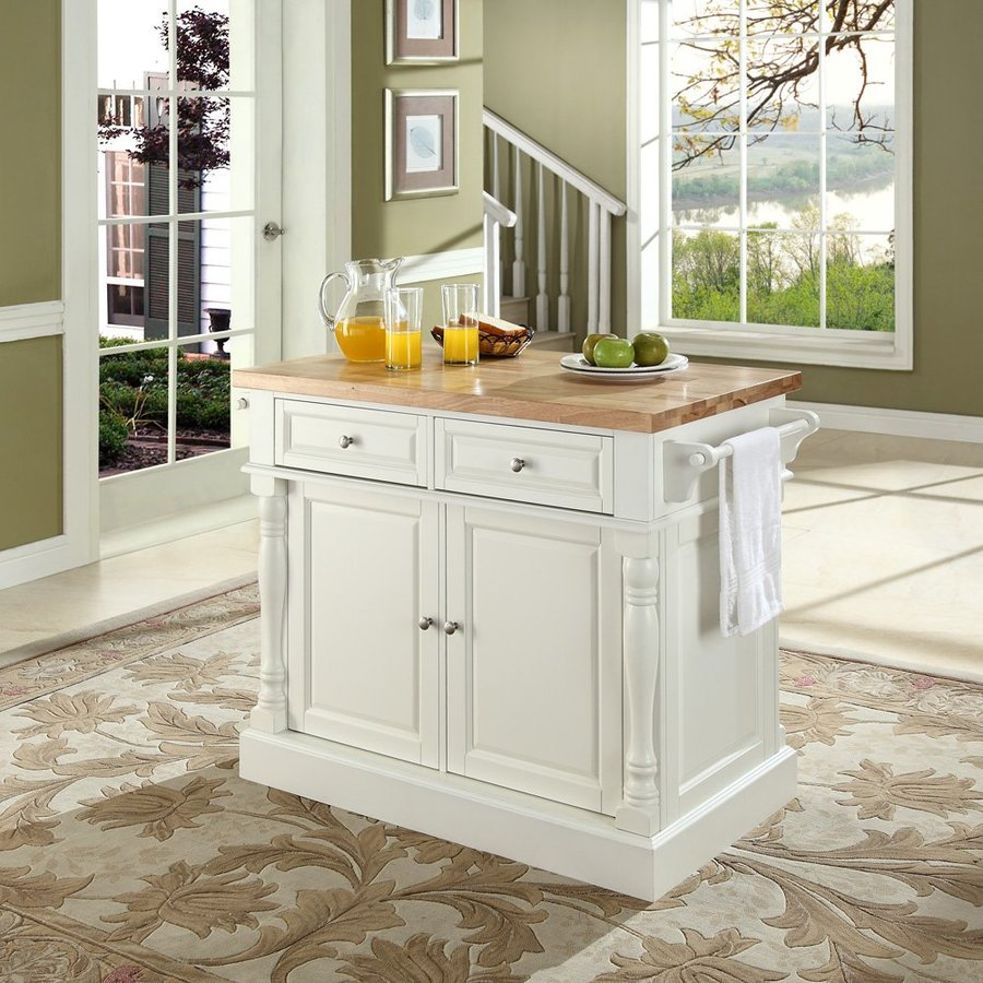 Crosley Furniture 48.25-in L x 23-in W x 36-in H White Kitchen Island