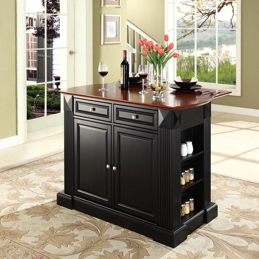 shop crosley furniture 48 in l x 35 in w x 36 in h black
