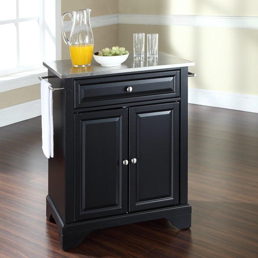 Shop Crosley Furniture L X 18 In W X 36 In H Black Kitchen Island At
