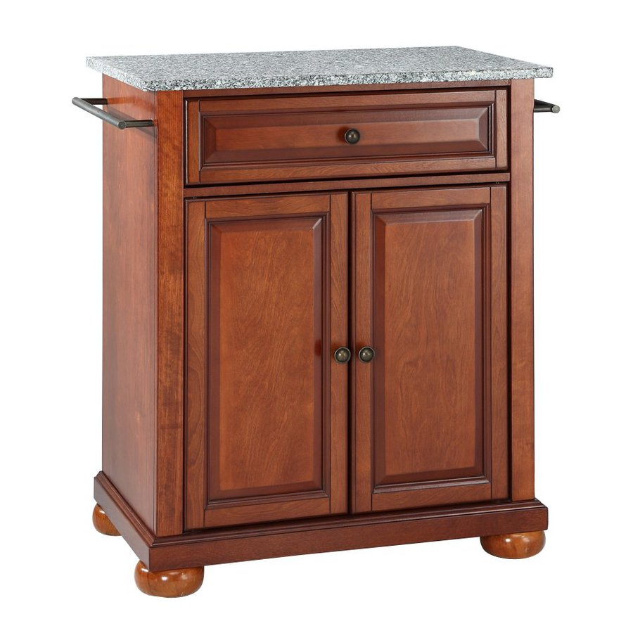 Crosley Furniture 28.25-in L x 18-in W x 36-in H Classic Cherry Kitchen Island