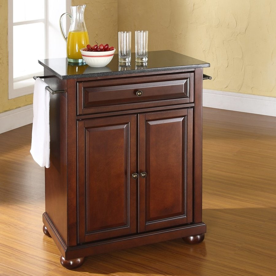 Crosley Furniture 28.25-in L x 18-in W x 36-in H Vintage Mahogany Kitchen Island