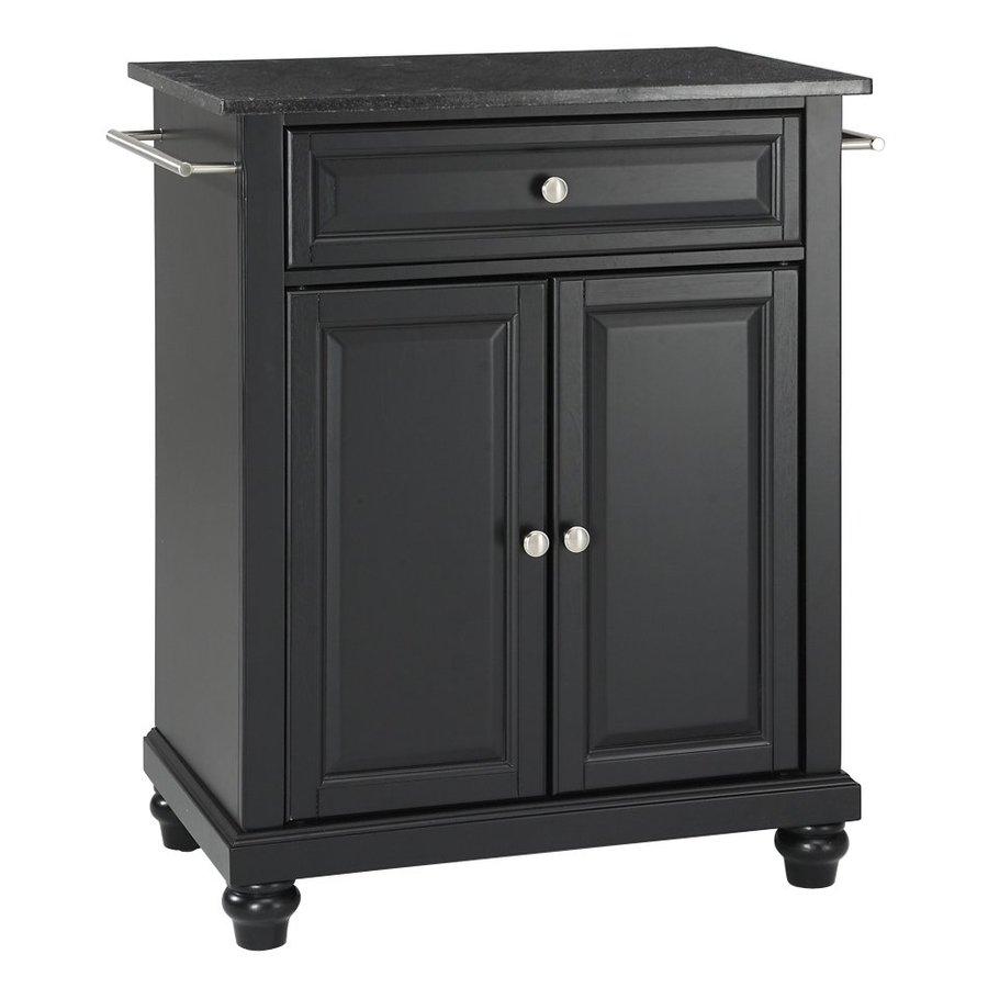 Crosley Furniture 28.25-in L x 18-in W x 36-in H Black Kitchen Island