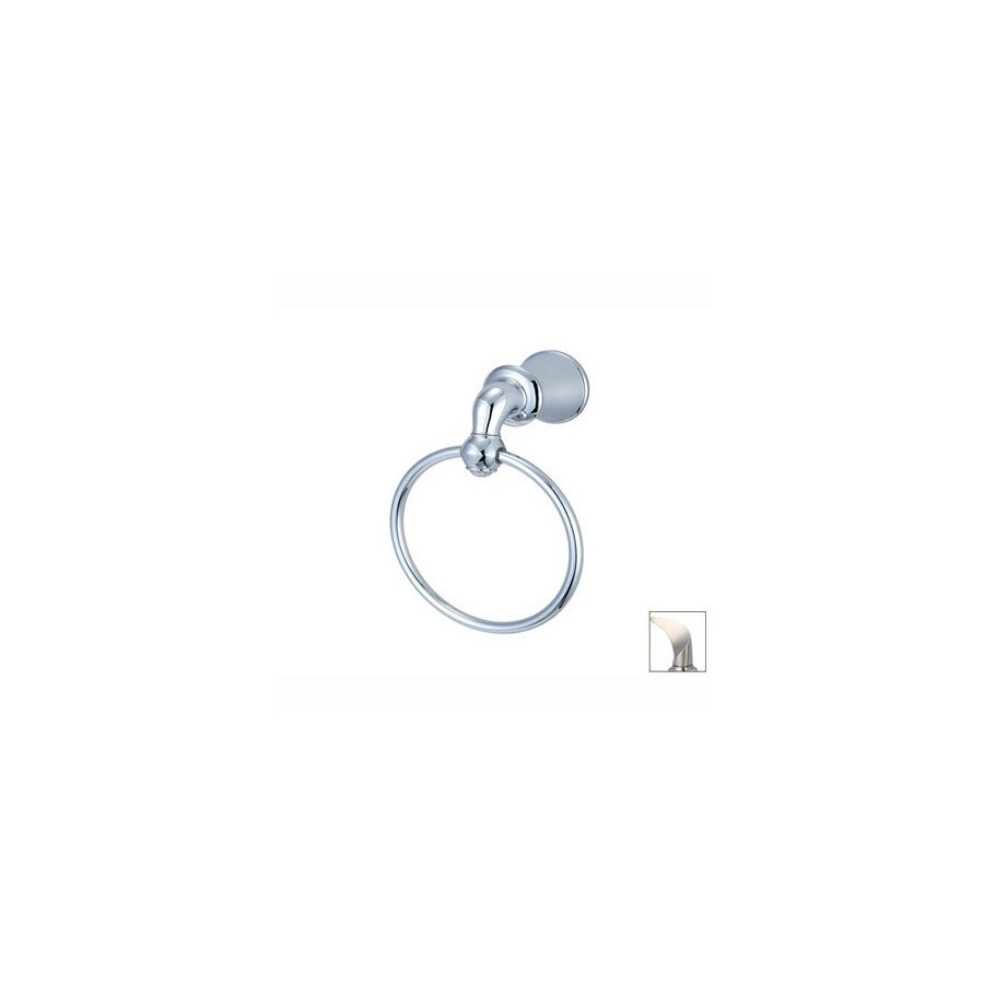 Pioneer Industries Del Mar Brushed Nickel Wall-Mount Towel Ring