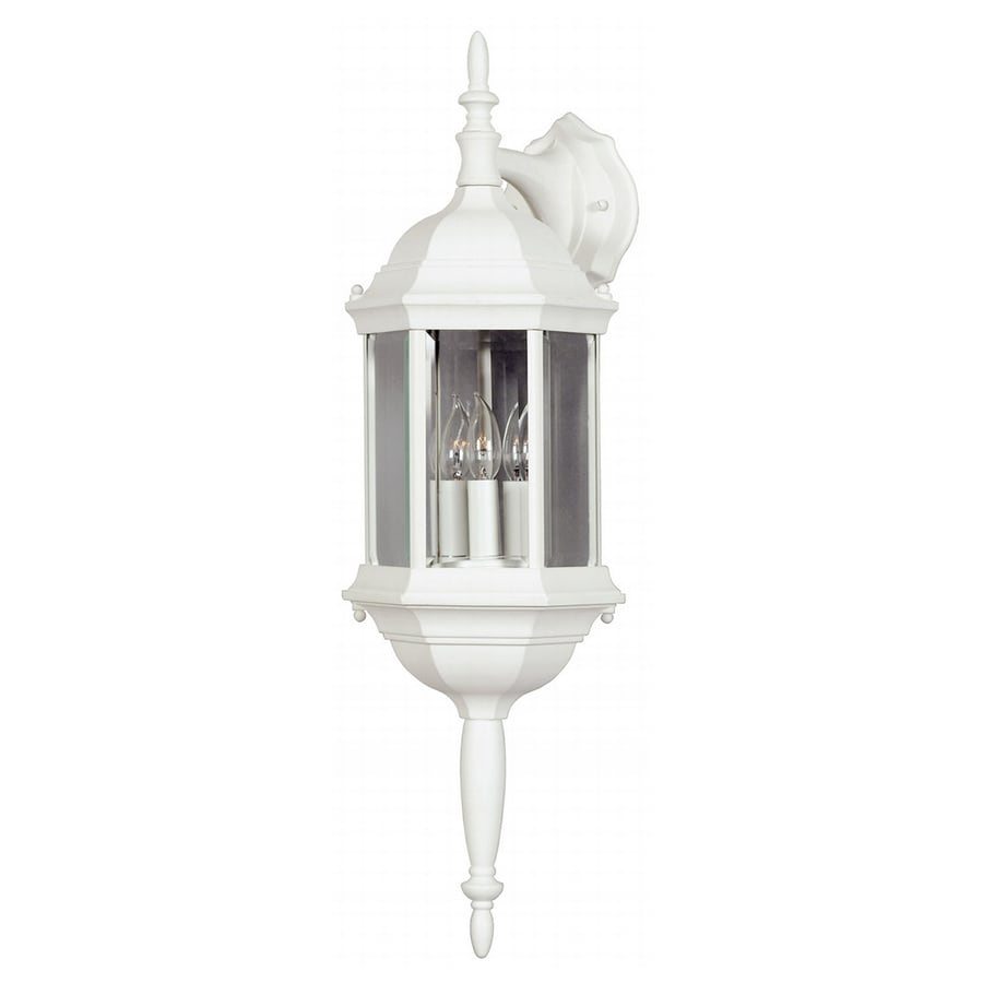 Custom Exterior Wall Lights : Shop Kenroy Home Custom Fit 26-in H White Outdoor Wall Light at Lowes.com