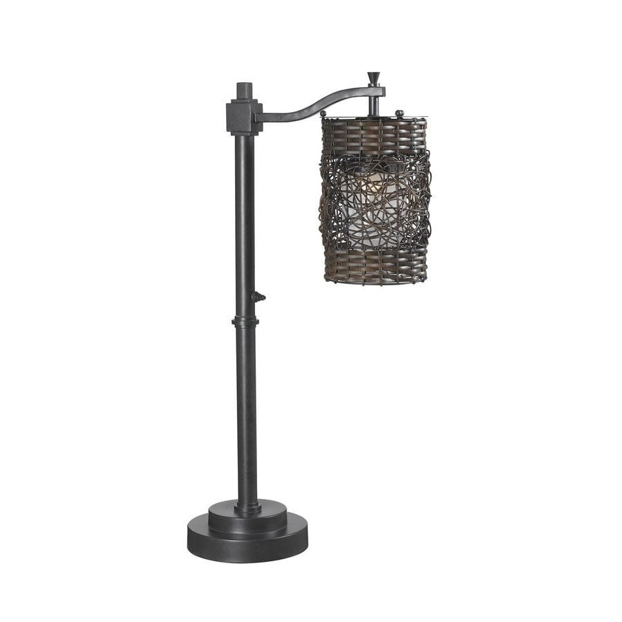 Shop Kenroy Home Brent 30 In Steel Plug In Incandescent Outdoor Table Lamp At Lowes Com