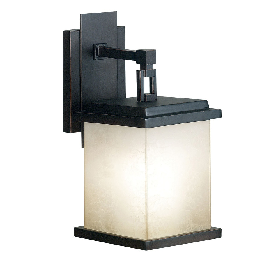 Kenroy Home Plateau 11.5-in H Oil-Rubbed Bronze Outdoor Wall Light