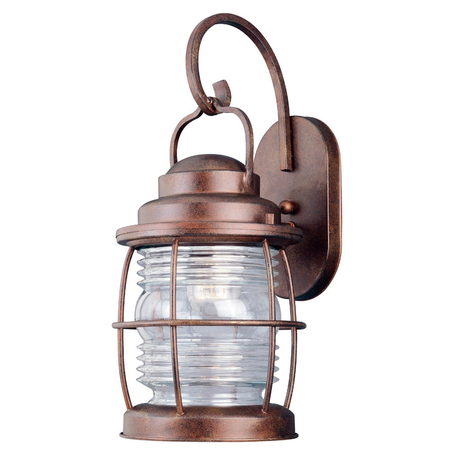 Wall Lights Beacon Lighting : Shop Kenroy Home Beacon 17-in H Gilded Copper Outdoor Wall Light at Lowes.com