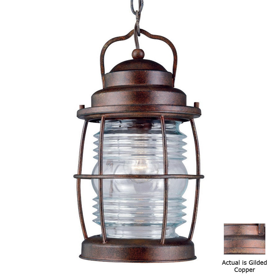 Shop Kenroy Home Beacon 13 In Gilded Copper Hardwired