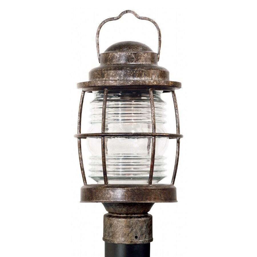 Kenroy Home Beacon 16-in H Flint Post Light