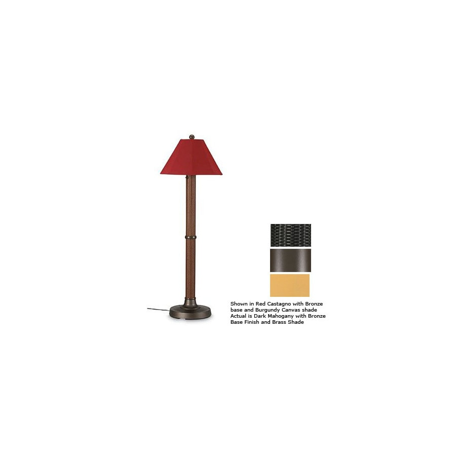 Patio Living Concepts 60-in H Bronze Outdoor Floor Lamp with Shade
