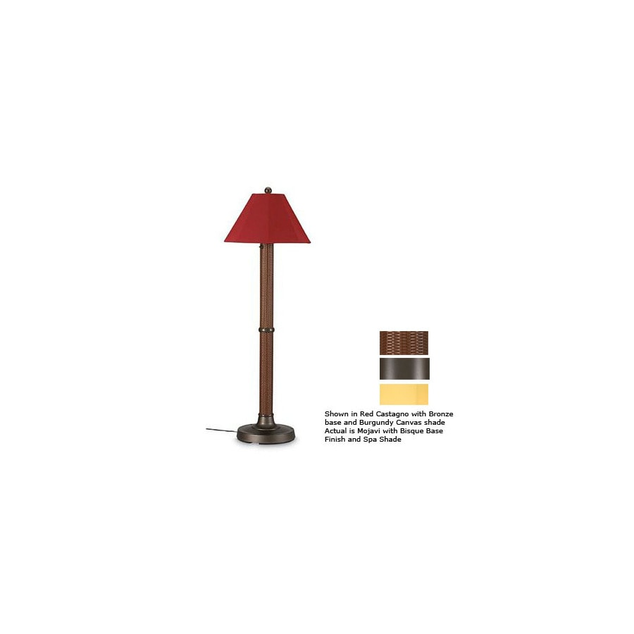 Patio Living Concepts 60-in H Bronze Outdoor Floor Lamp with Fabric Shade