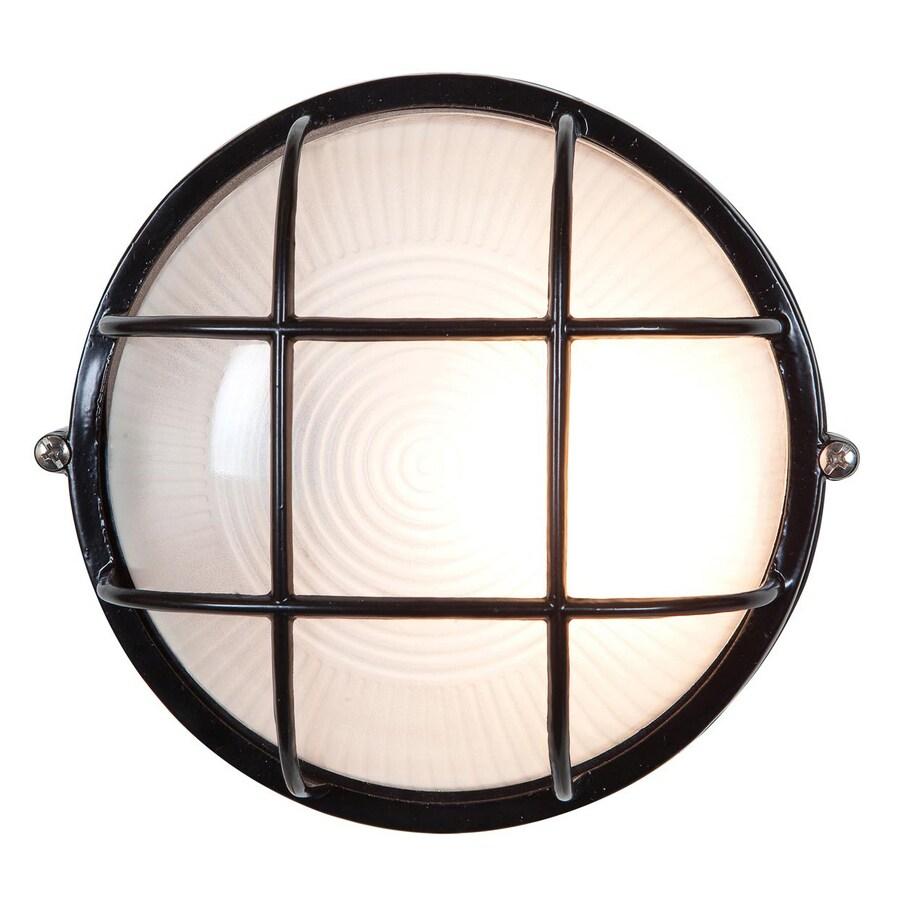 Access Lighting Nauticus 10-in H Black Outdoor Wall Light