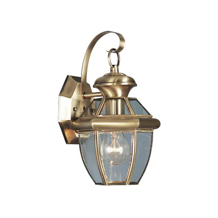Shop Livex Lighting Monterey 12.5-in H Antique Brass