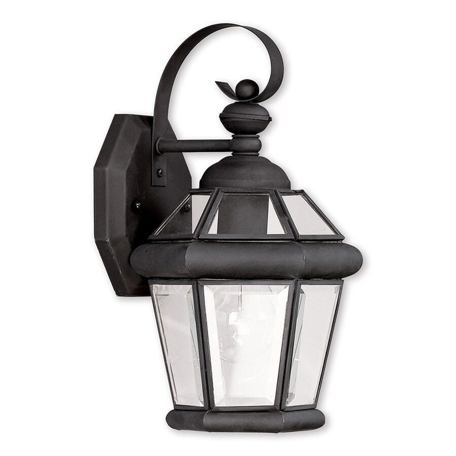 Livex Lighting Georgetown 11-in H Black Outdoor Wall Light