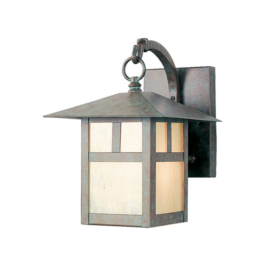 Livex Lighting Montclair Mission 10.75-in H Verde Patina Outdoor Wall Light