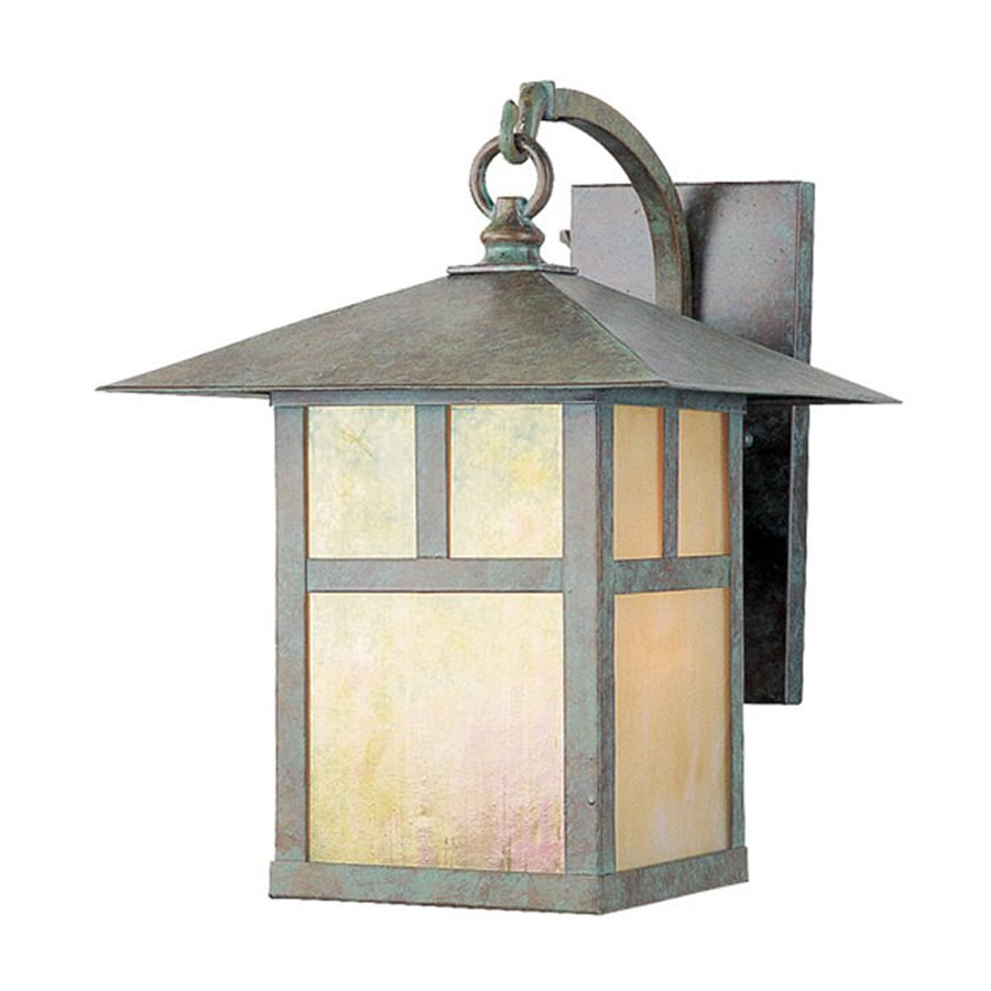 Livex Lighting Montclair Mission 13.75-in H Verde Patina Outdoor Wall Light