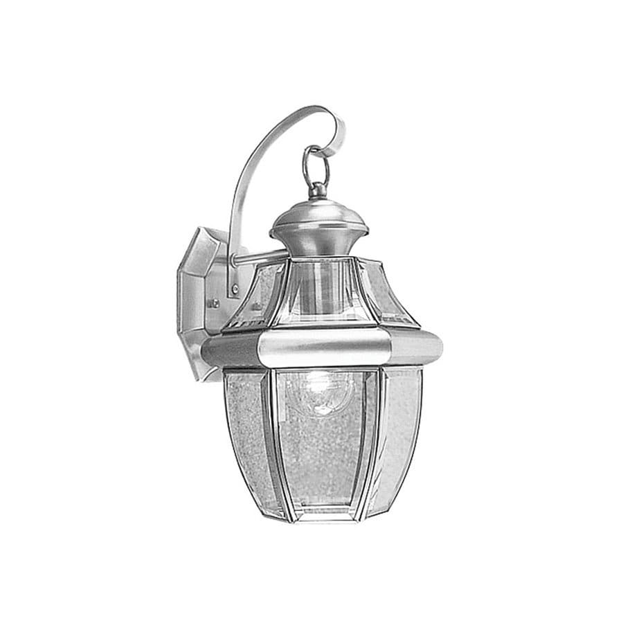 Livex Lighting Monterey 13-in H Brushed Nickel Outdoor Wall Light