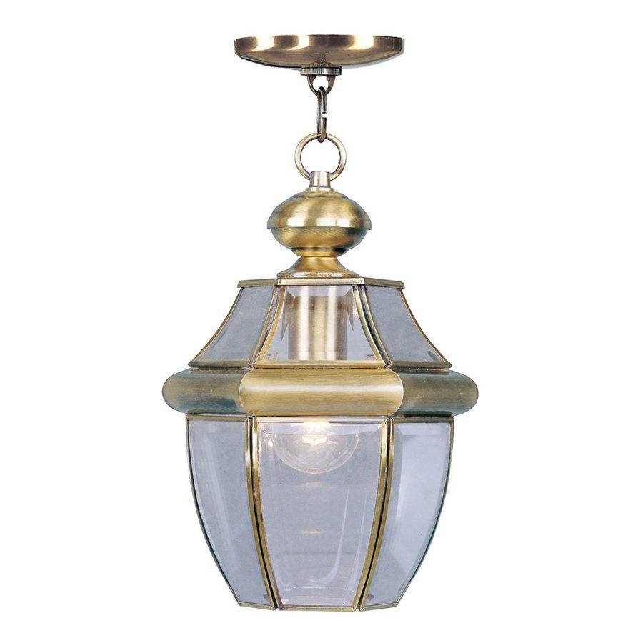 Livex Lighting Monterey 12.75-in H Brass Outdoor Pendant Light