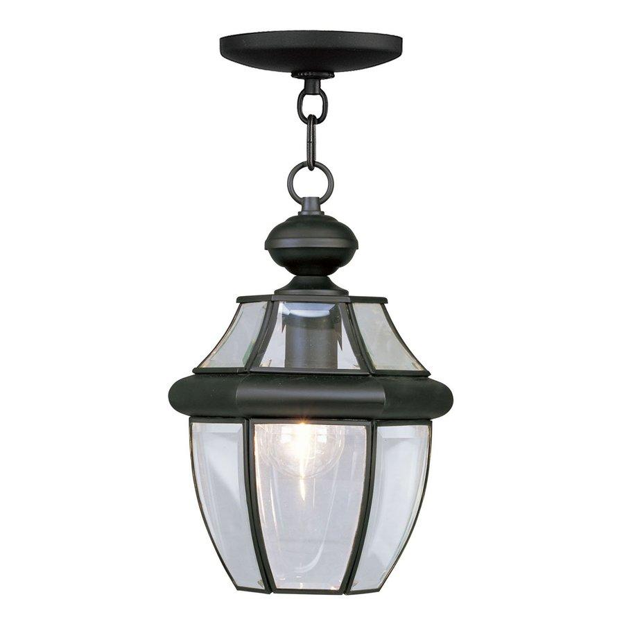 Livex Lighting Monterey 12.75-in H Black Outdoor Pendant Light