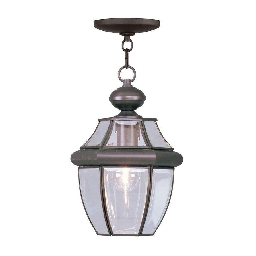 Livex Lighting Monterey 12.75-in H Bronze Outdoor Pendant Light