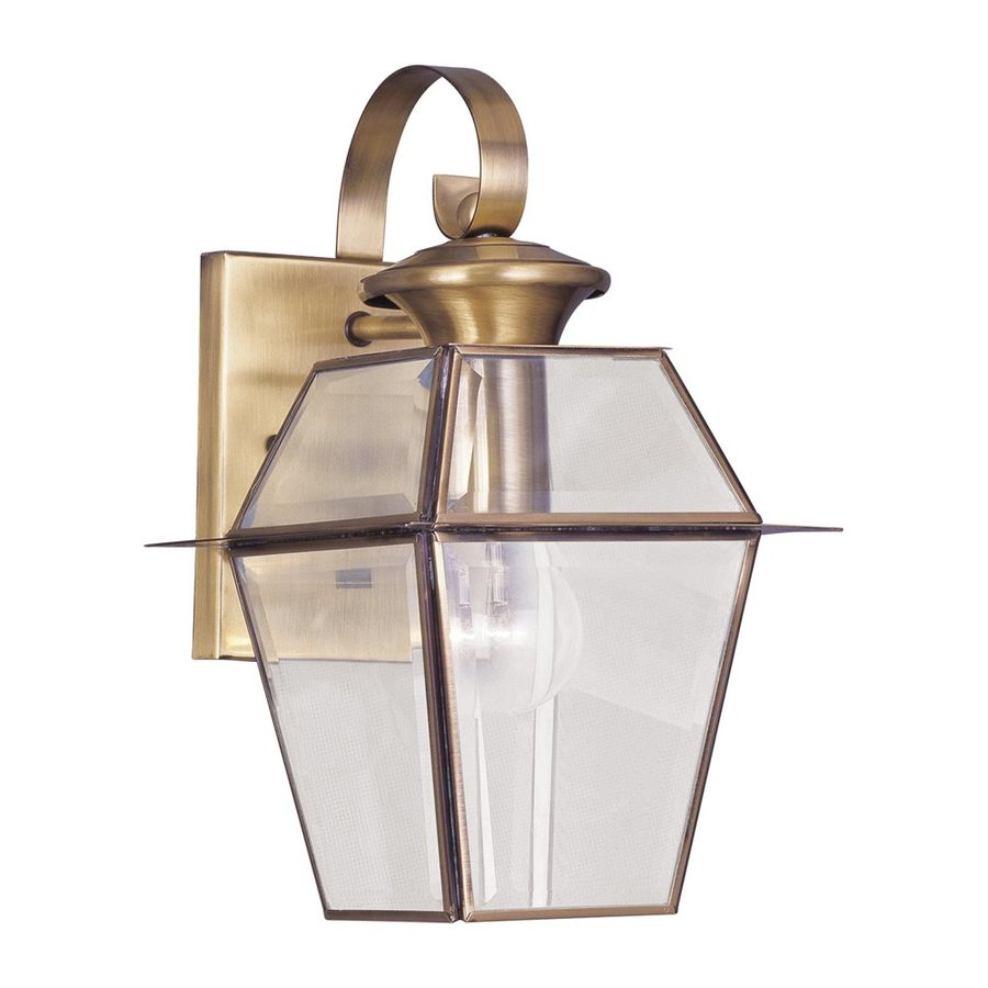 Livex Lighting Westover 12.5-in H Antique Brass Outdoor Wall Light
