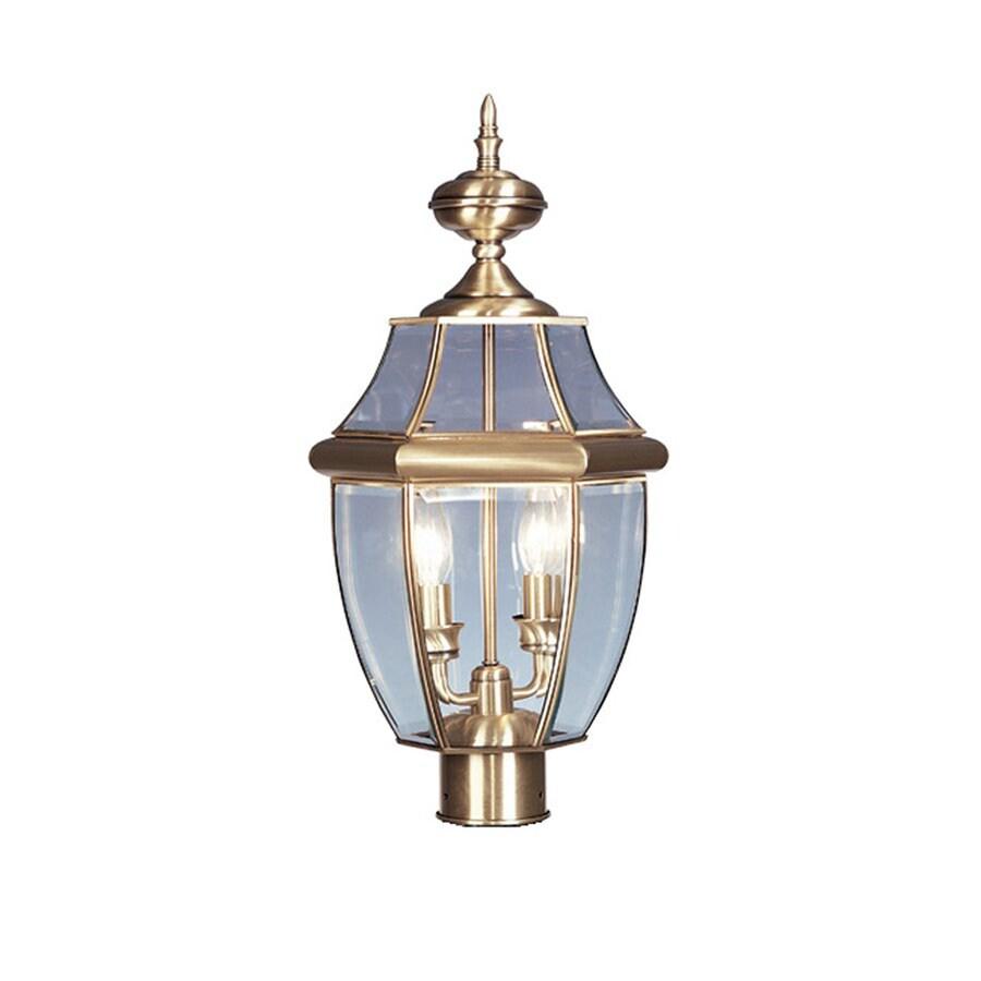 Livex Lighting Monterey 21.5-in H Antique Brass Post Light