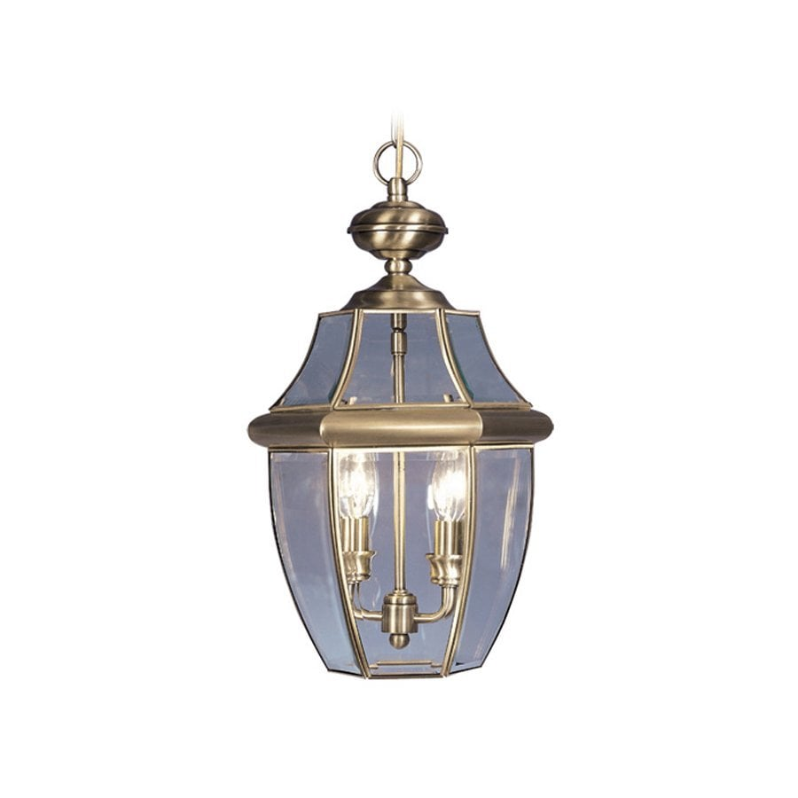 Livex Lighting Monterey 19-in H Brass Outdoor Pendant Light