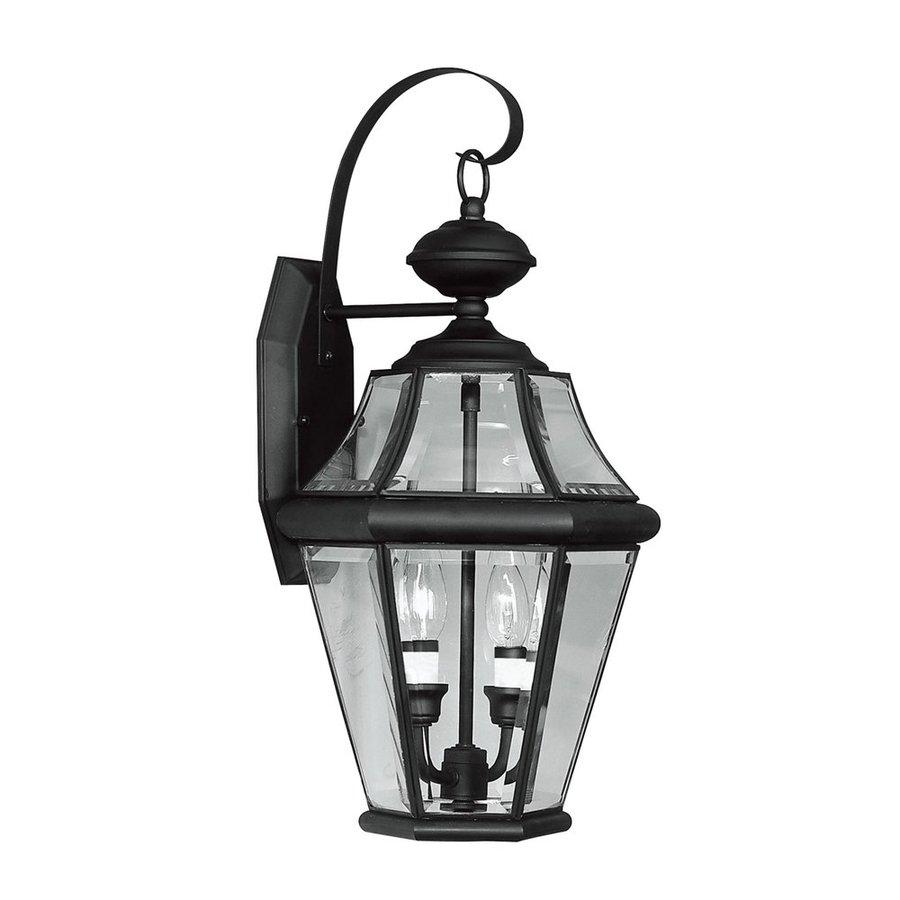 Livex Lighting Georgetown 20.75-in H Black Outdoor Wall Light