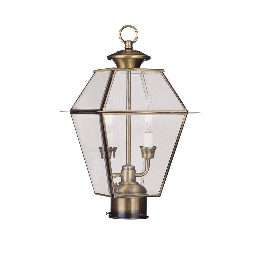 Livex Lighting Westover 16.5-in H Antique Brass Post Light
