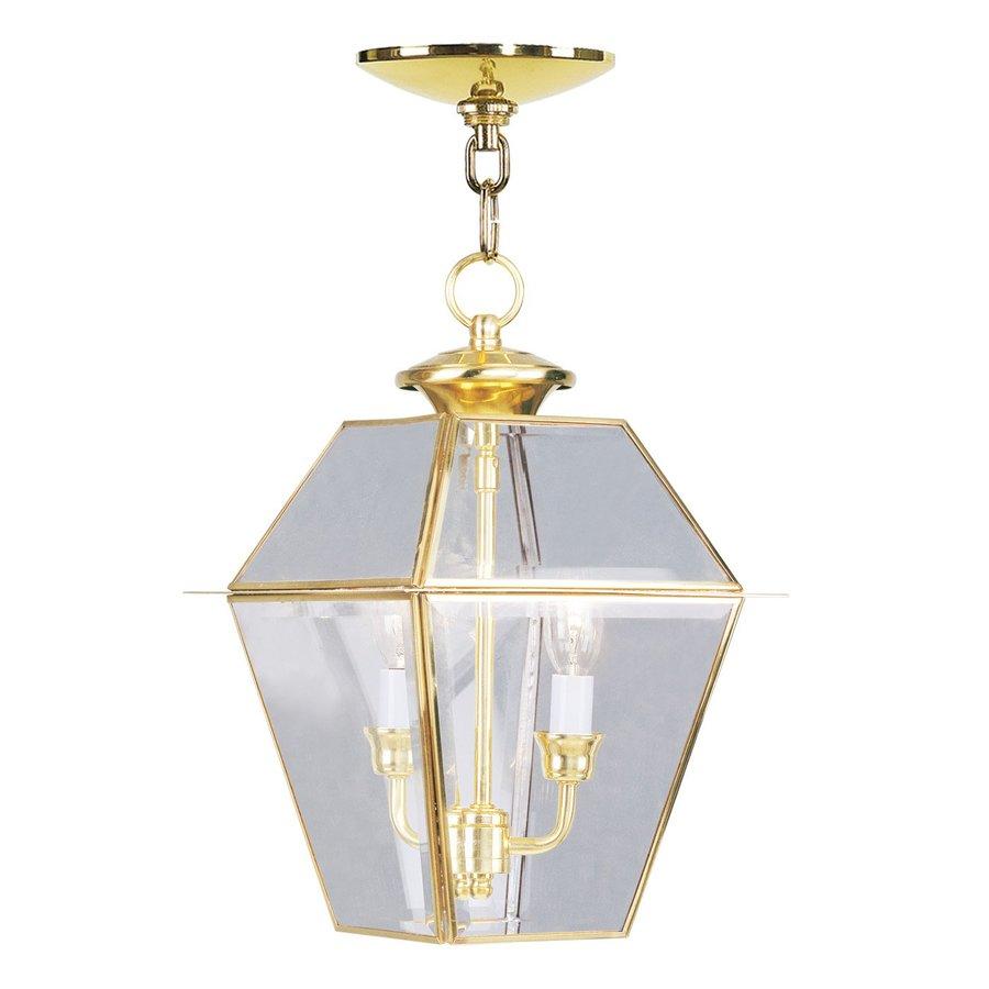 Livex Lighting Westover 16.5-in H Brass Outdoor Pendant Light