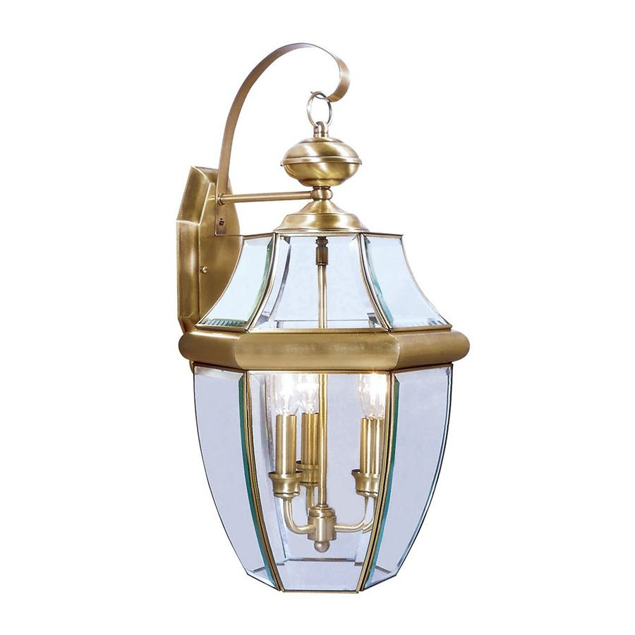 Livex Lighting Monterey 22.25-in H Antique Brass Outdoor Wall Light