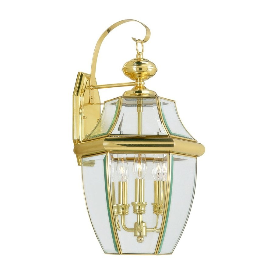 Cullen Wall Light Polished Brass : Shop Livex Lighting Monterey 22.25-in H Polished Brass Outdoor Wall Light at Lowes.com