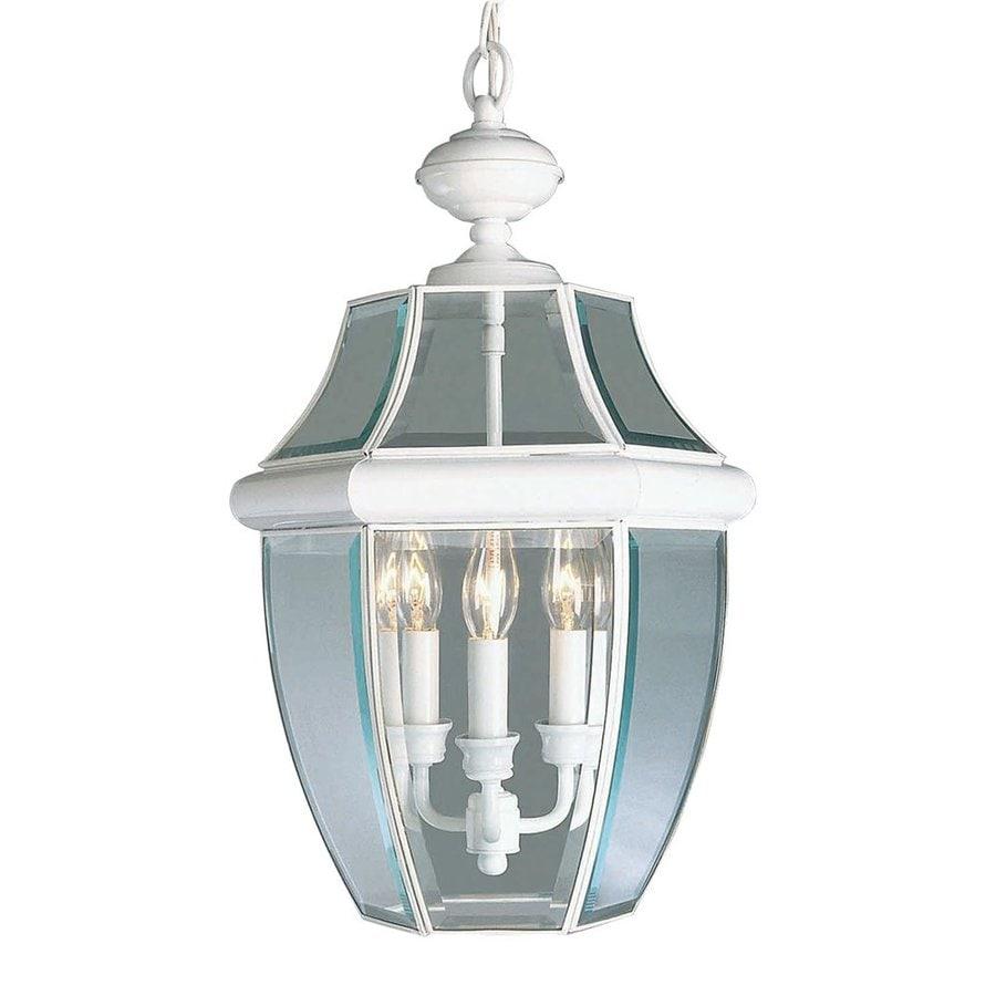 Livex Lighting Monterey 21-in H White Outdoor Pendant Light