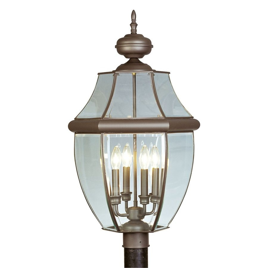 Livex Lighting Monterey 29-in H Bronze Post Light