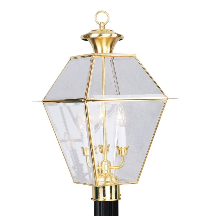 Livex Lighting Westover 22-in H Polished Brass Post Light
