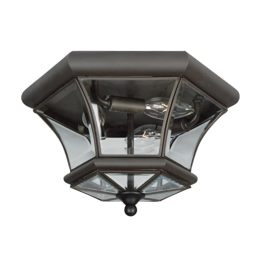 Livex Lighting Monterey 12.5-in W Bronze Outdoor Flush-Mount Light