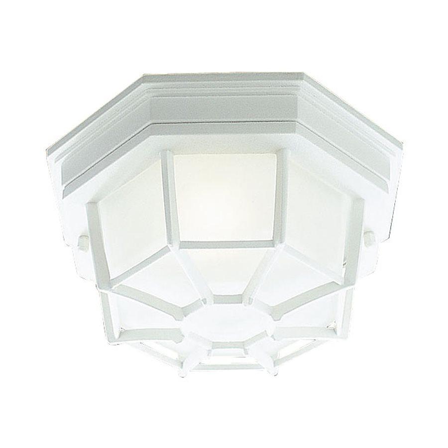 Livex Lighting 11.5-in W White Outdoor Flush-Mount Light