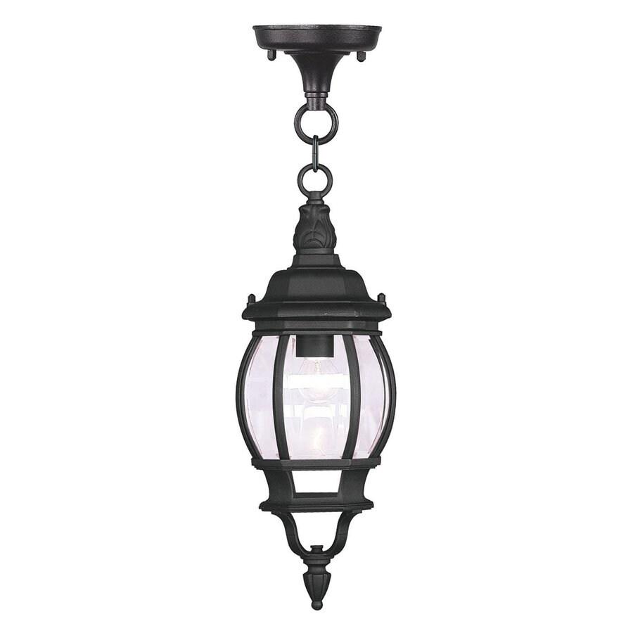 Livex Lighting Frontenac 18.5-in H Black Outdoor Pendant Light