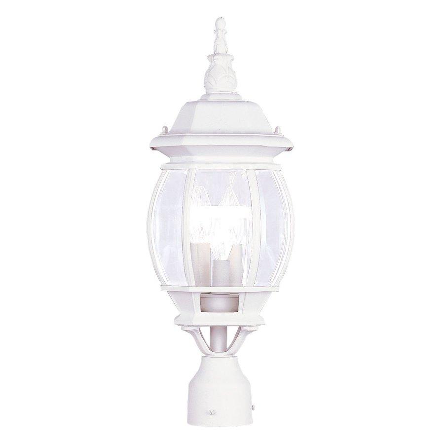 Livex Lighting Frontenac 22-in H White Standard Post Light