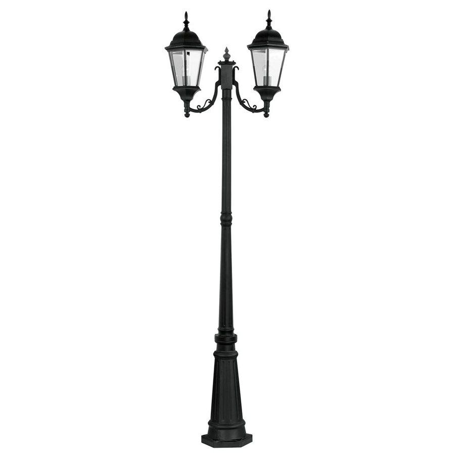 Livex Lighting Hamilton 85.75-in H Black Standard Complete Post Light