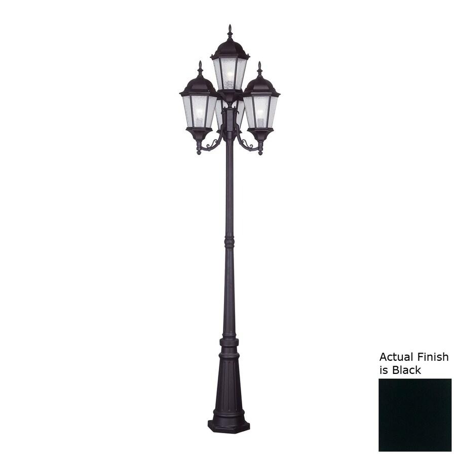 Livex Lighting Hamilton 95-in H Black Post Light