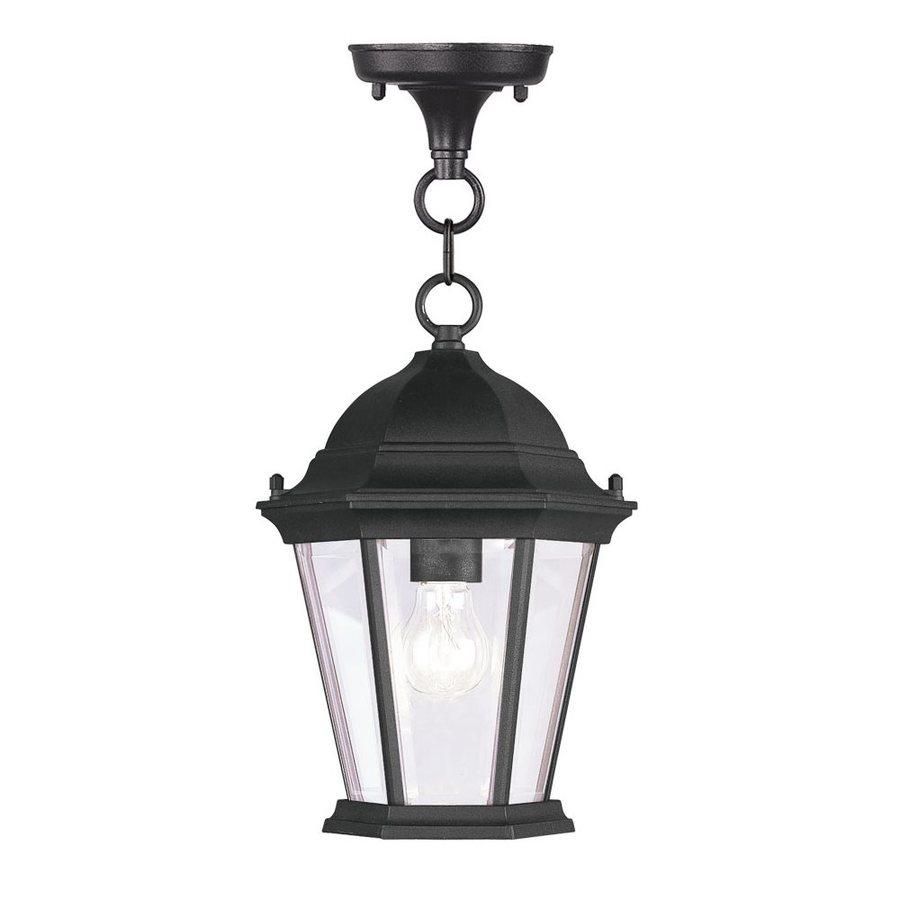 Livex Lighting Hamilton 16.5-in H Black Outdoor Pendant Light
