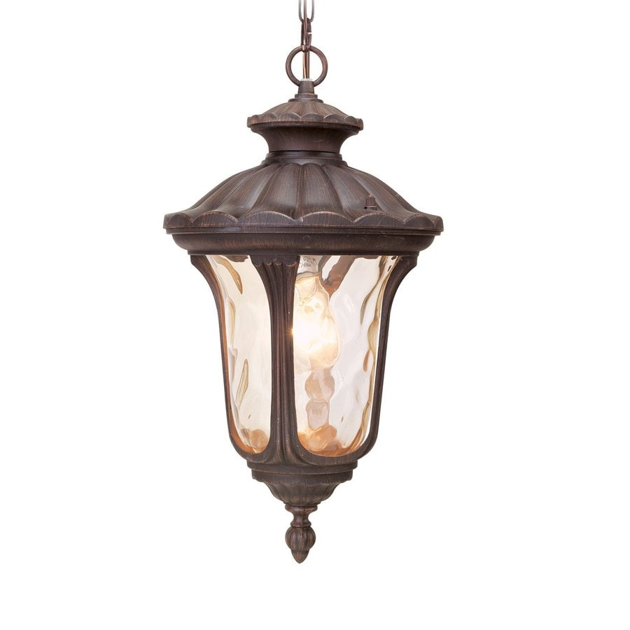 Livex Lighting Oxford 17.5-in H Bronze Outdoor Pendant Light