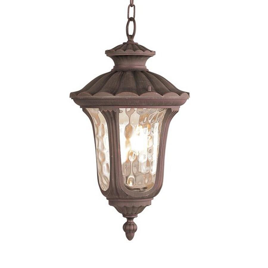 Livex Lighting Oxford 20.5-in H Bronze Outdoor Pendant Light