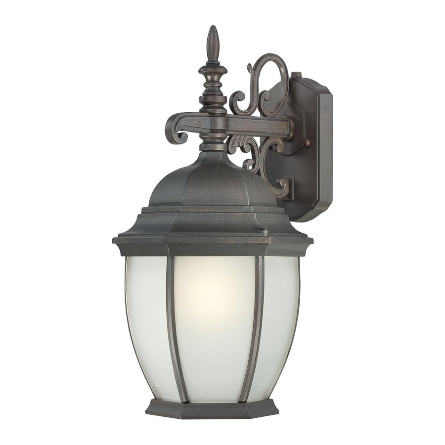 Thomas Lighting Convington 18-in H Painted Bronze Outdoor Wall Light