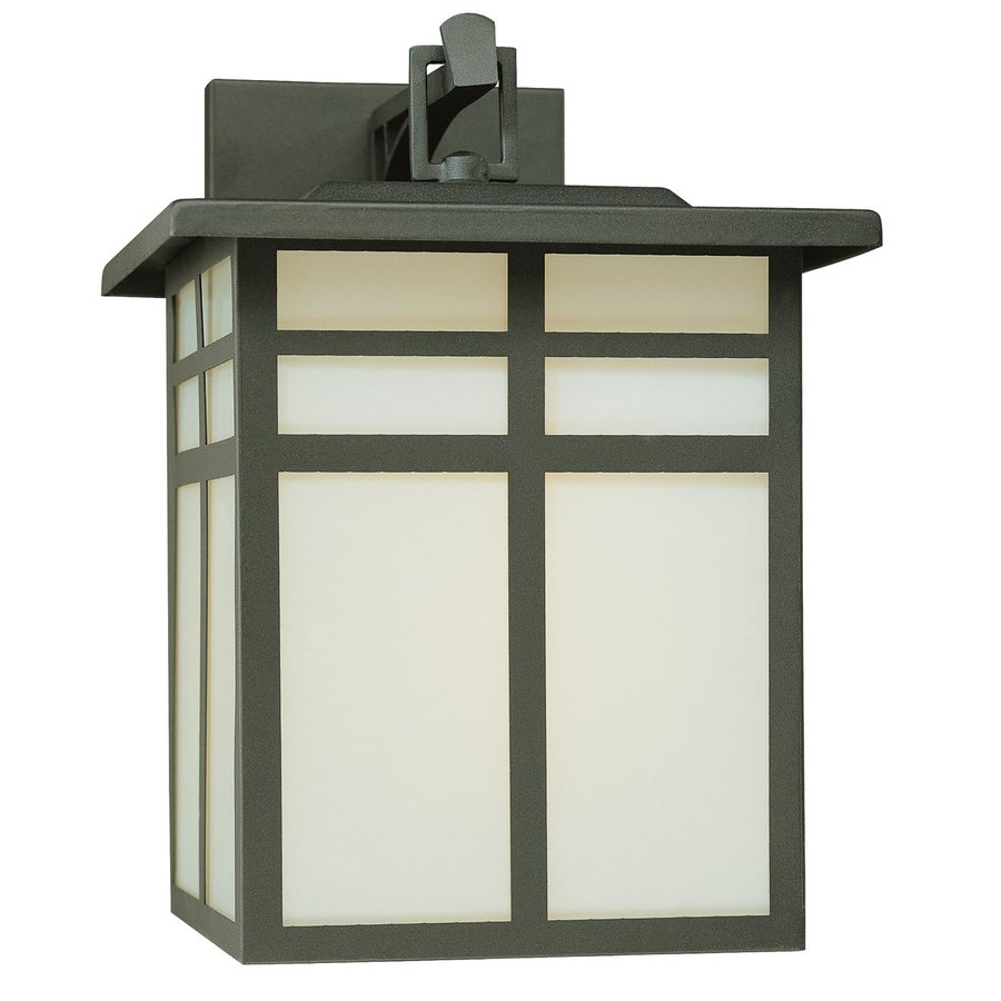 Thomas Lighting Mission 12.5-in H Matte Black Outdoor Wall Light
