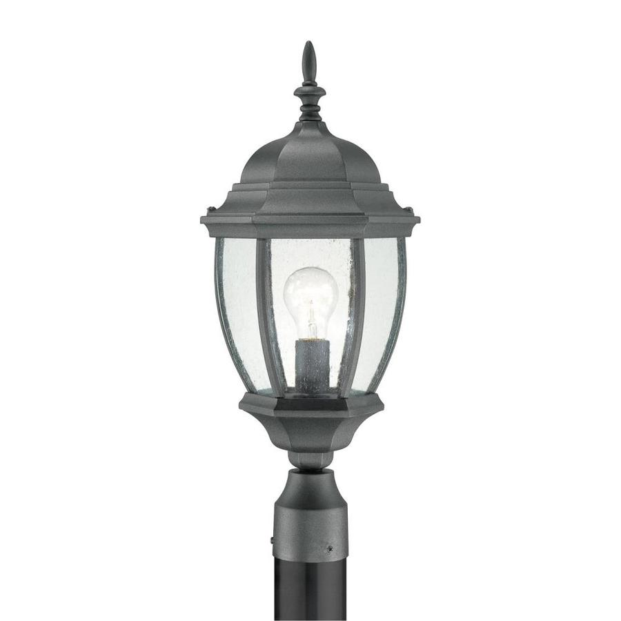 Thomas Lighting Convington 21.5-in H Black Complete Pier-Mounted Light