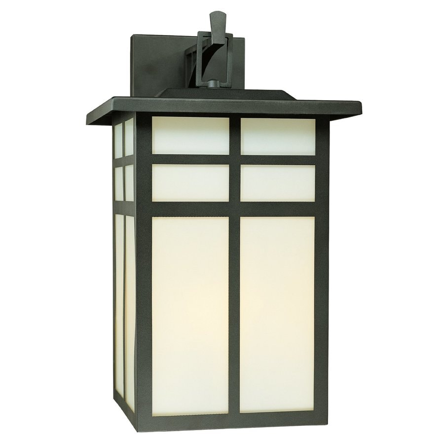 Shop Thomas Lighting Mission 19 In H Matte Black Outdoor Wall Light At